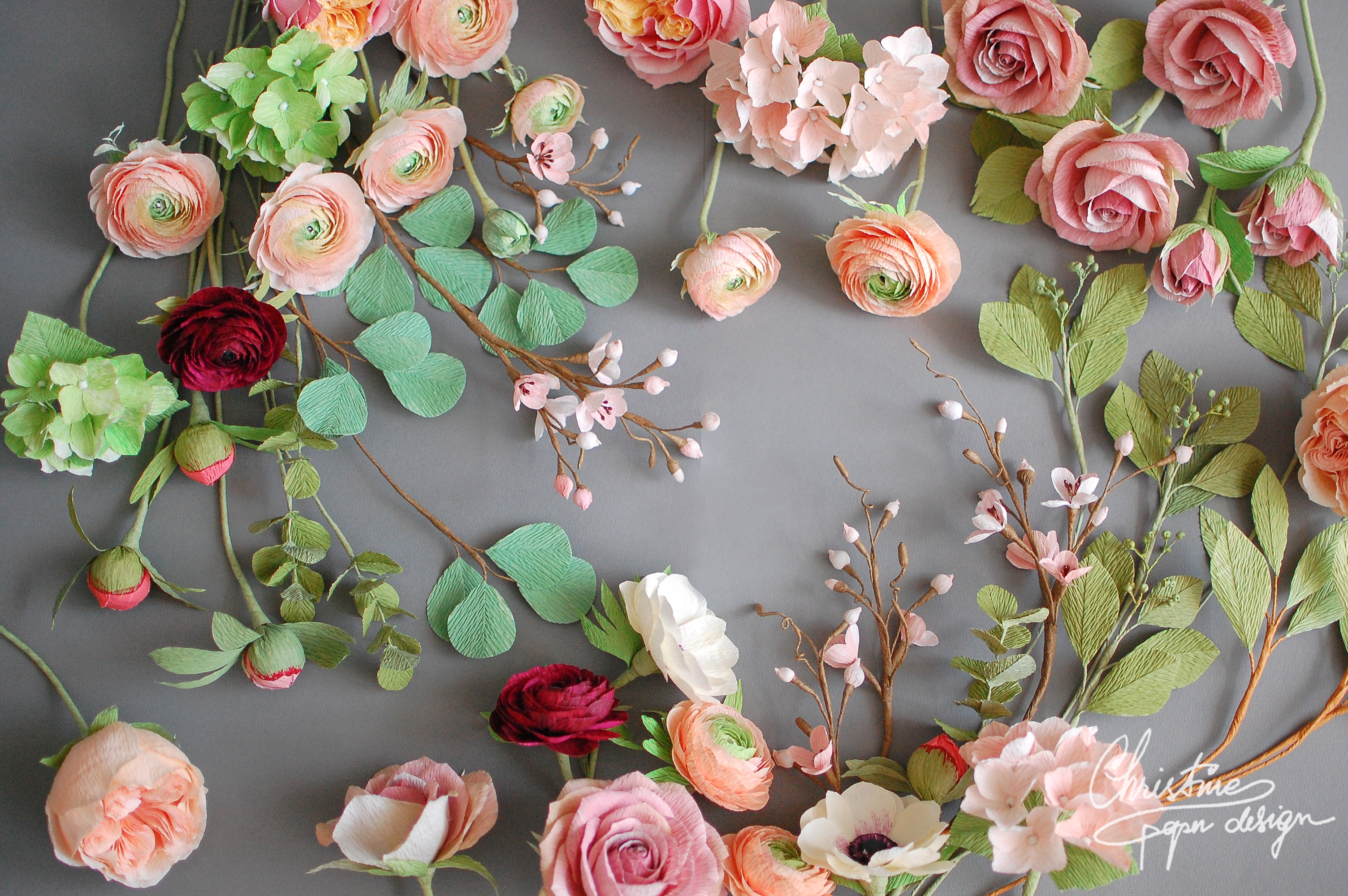 Christine paper design - paper flowers