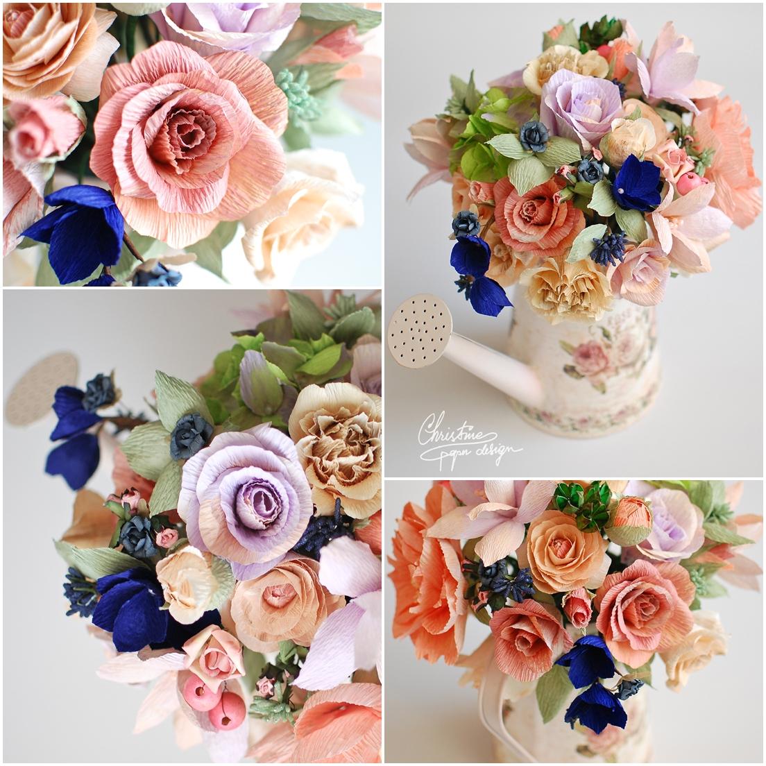 paperflowers centerpiece