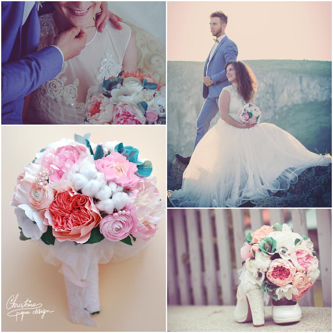 paperflowers bridal bouquet