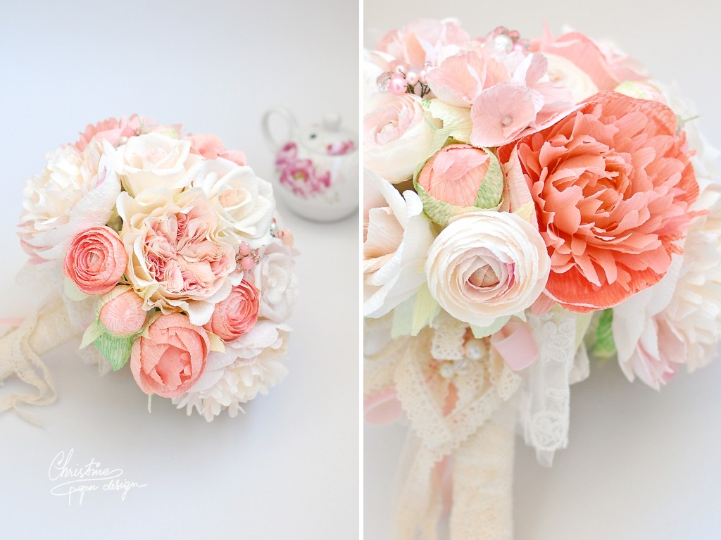Christine paper design bridal bouquet