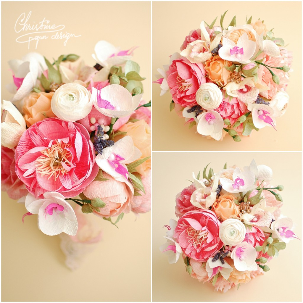 10.Christine paper design - wedding bouquet
