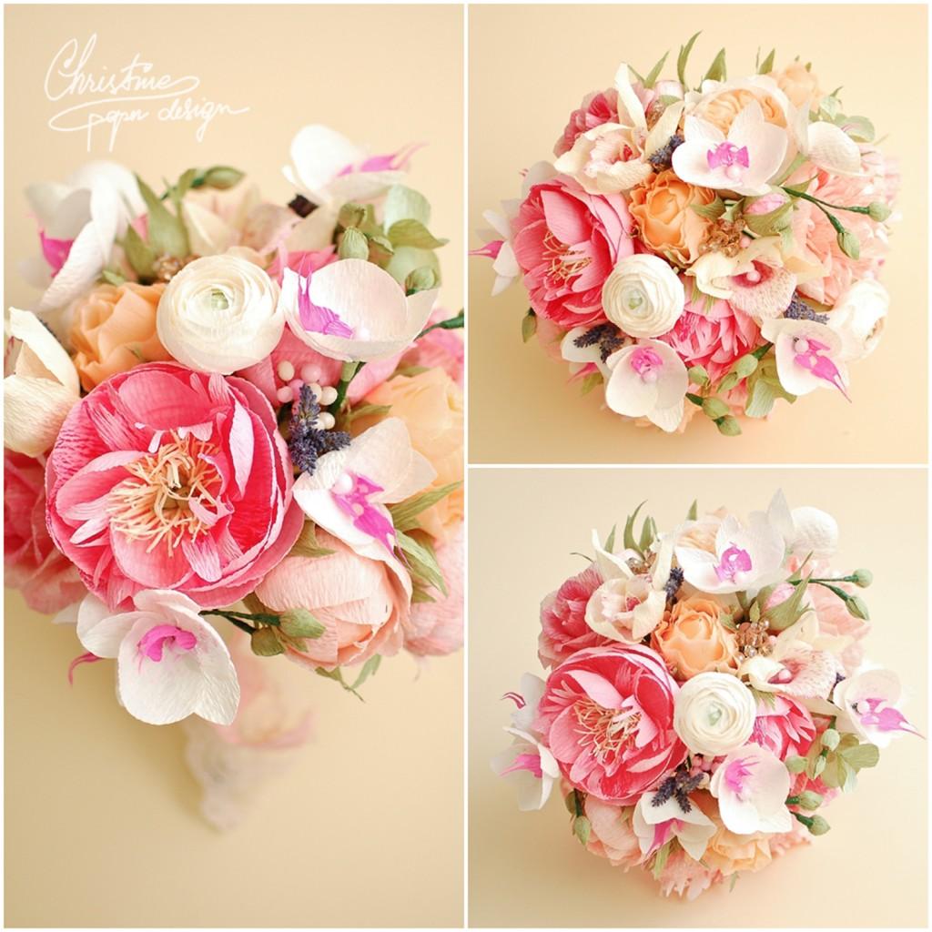 10.Christine paper design - wedding bouquet