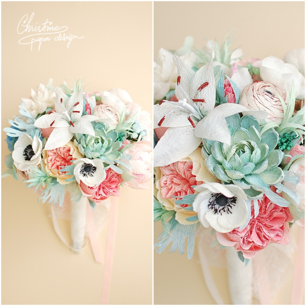 2.Christine paper design - bridal bouquet