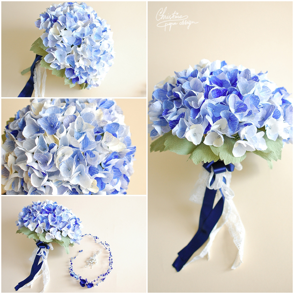 2.Christine paper design - giant hydrangea bouquet