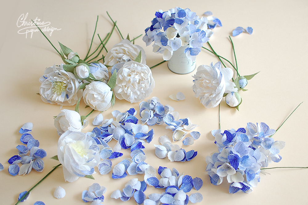 3'. Christine paper design - paper flowers