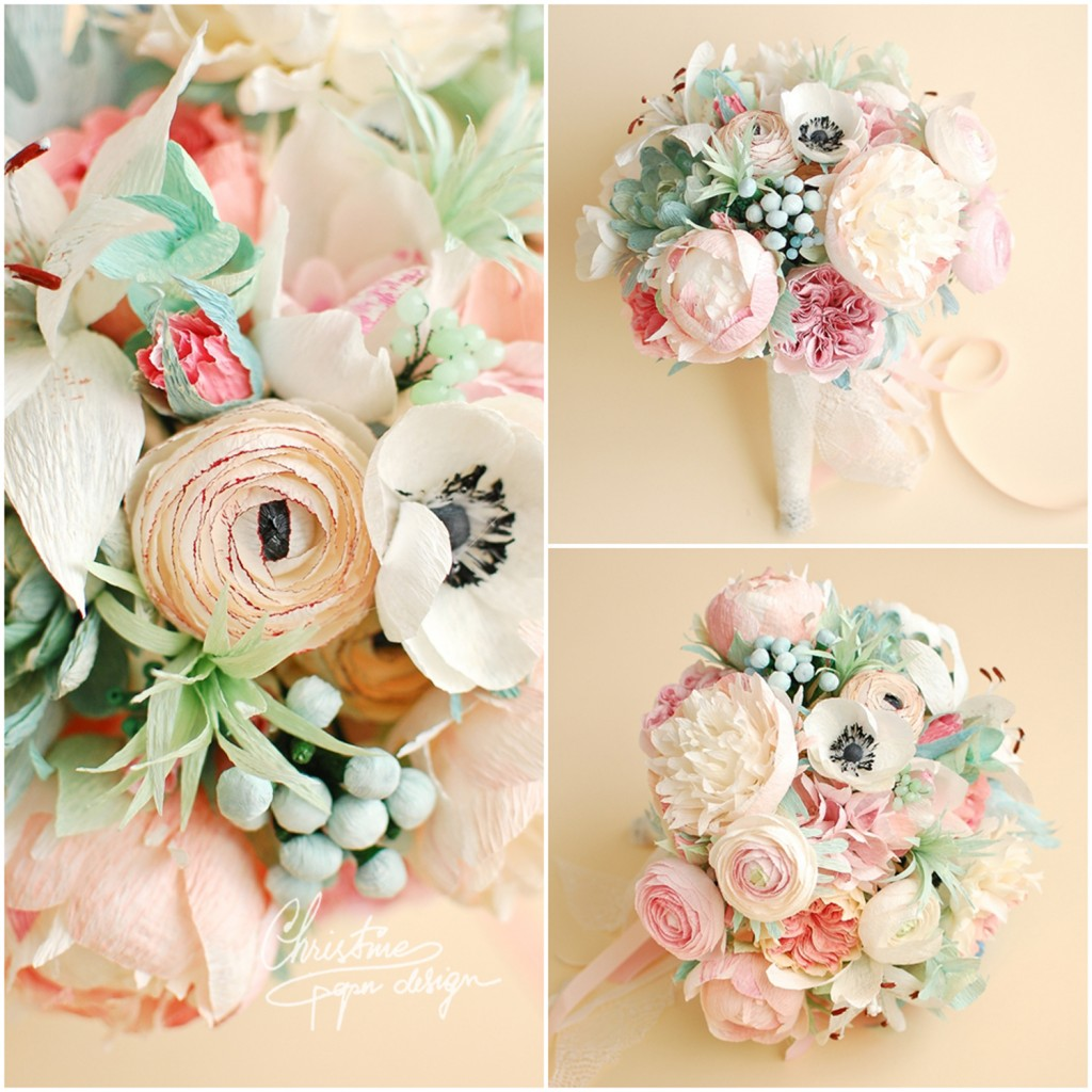 3.Christine paper design - bridal bouquet3