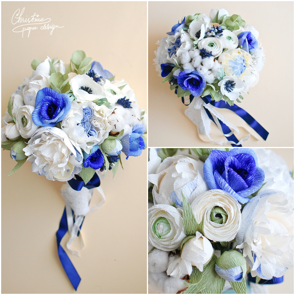 4.Christine paper design - bridal bouquet