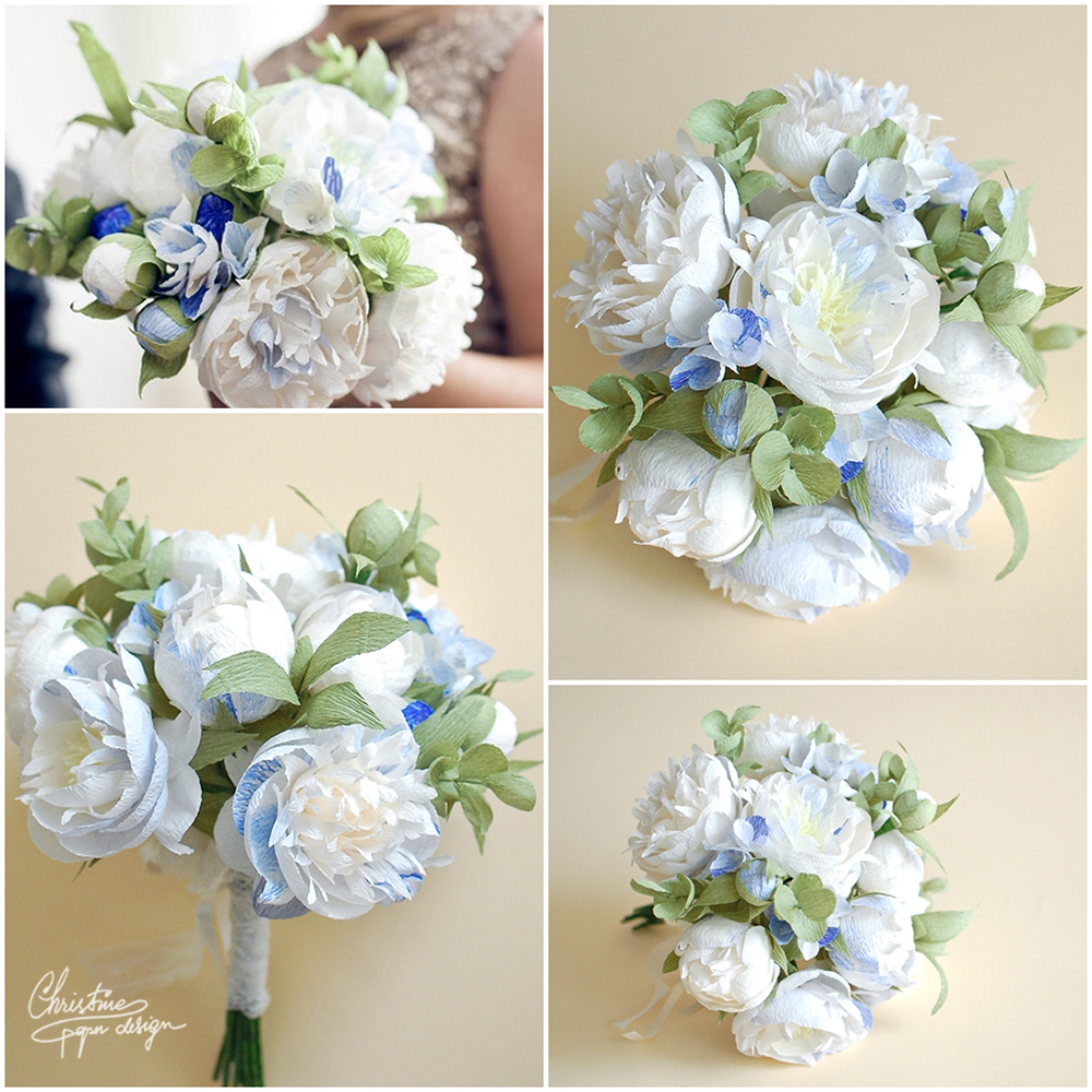 4.Christine paper design - peonie bridal bouquet