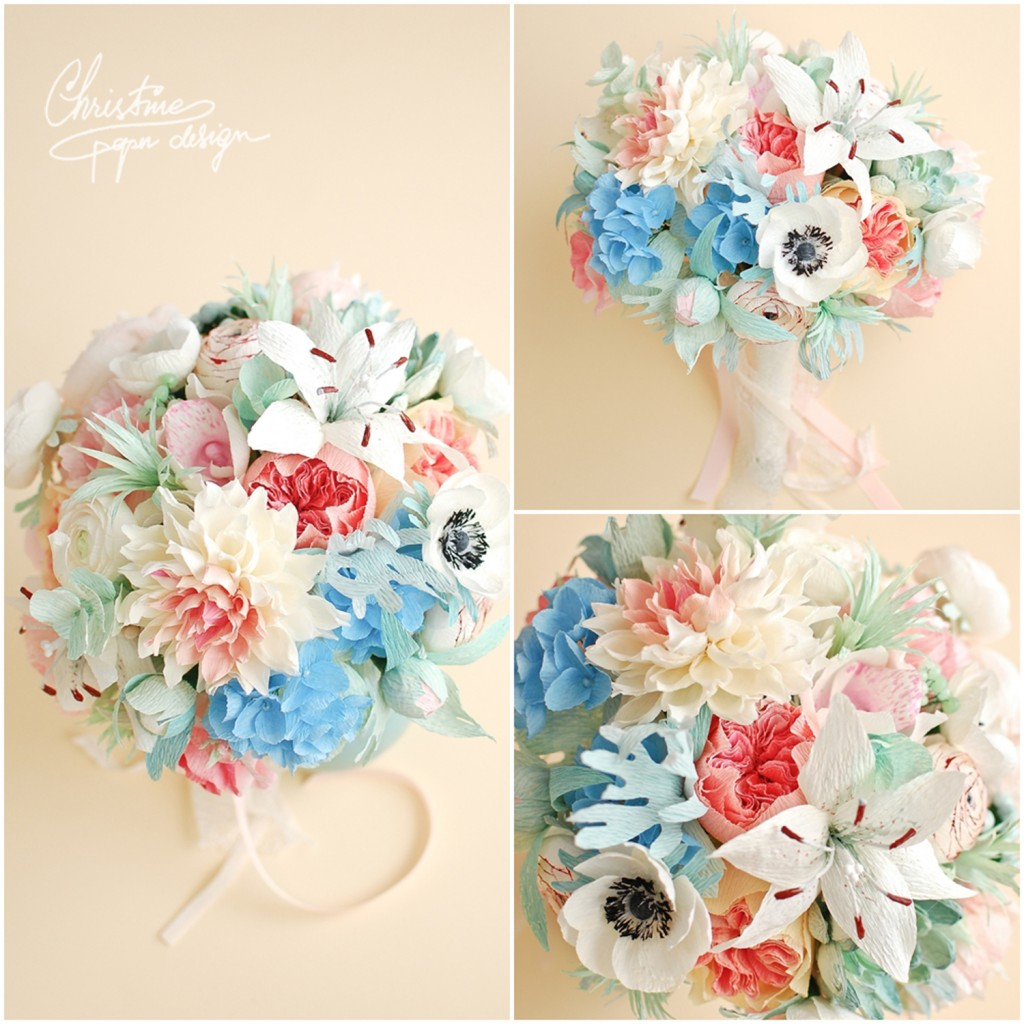 5.Christine paper design - bridal bouquet2