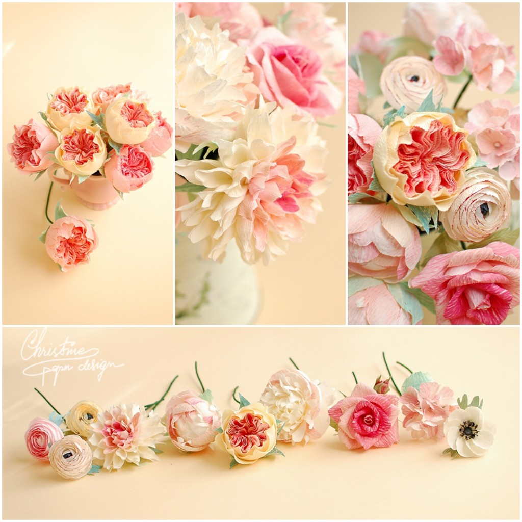 7.Christine paper design - paper flowers
