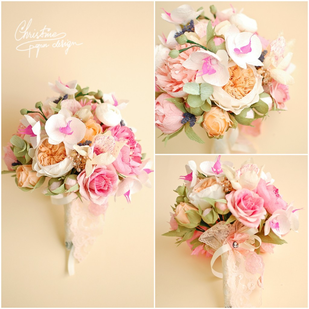 8.Christine paper design - wedding bouquet2