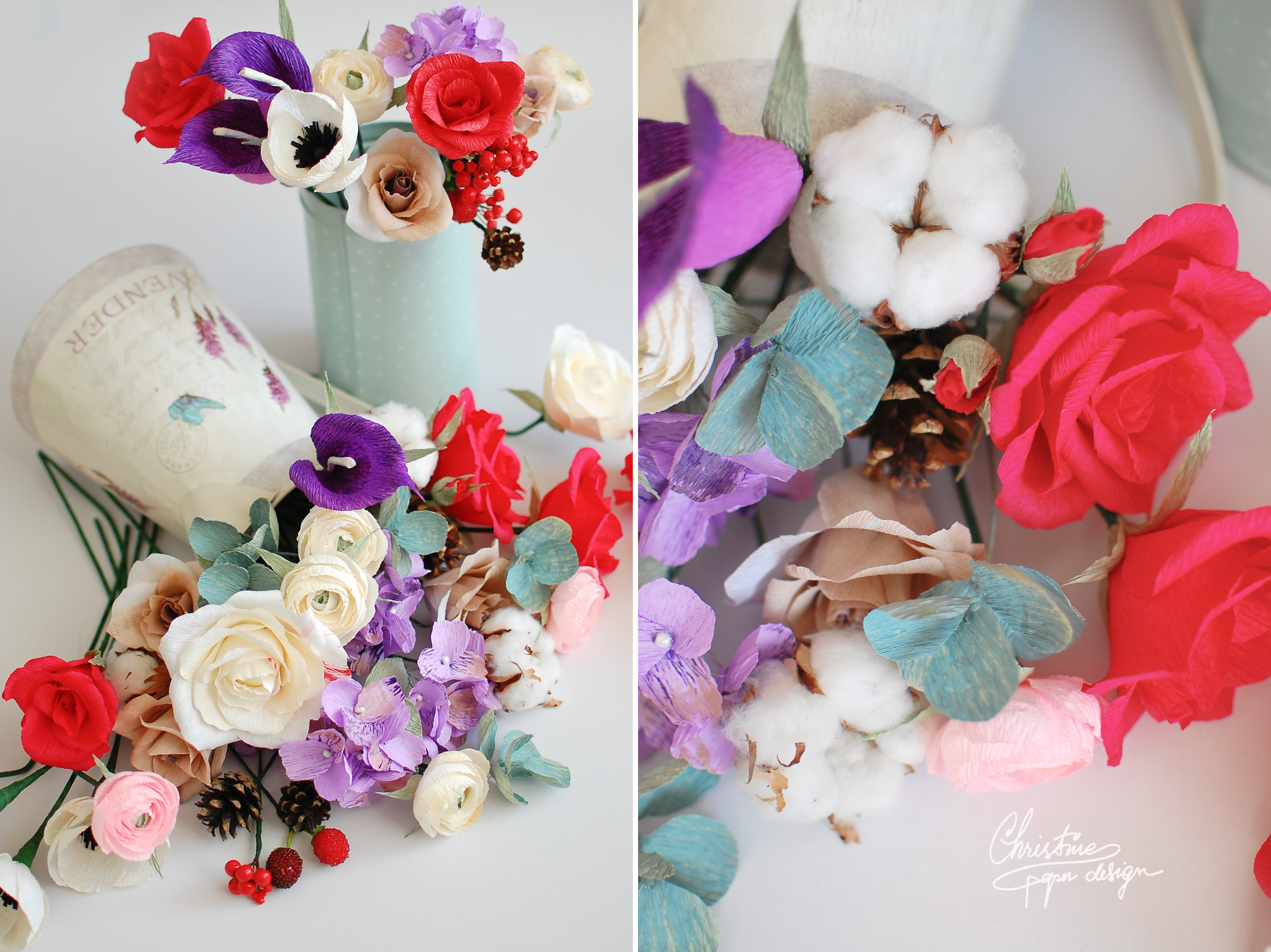 Christine paper design - paper flowers (2)