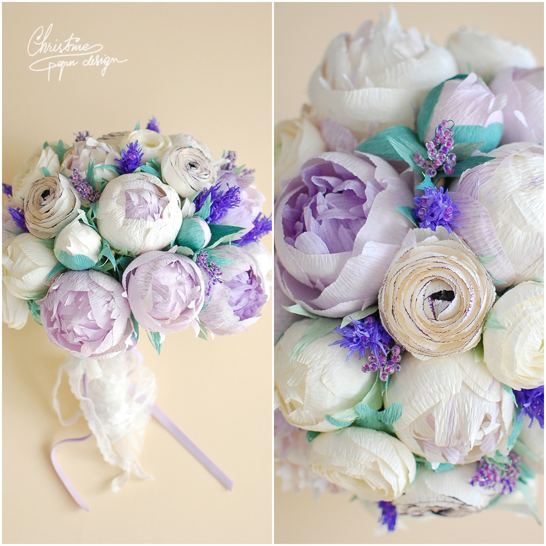 Paper peonies simple colour palette and a stylish alternative 1christine paper design paper flowers bridal bouquet izmirmasajfo