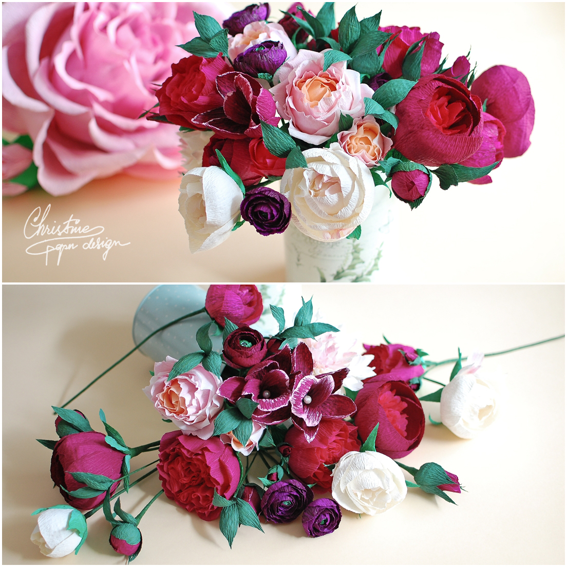 8Christine paper design - paper flowers2