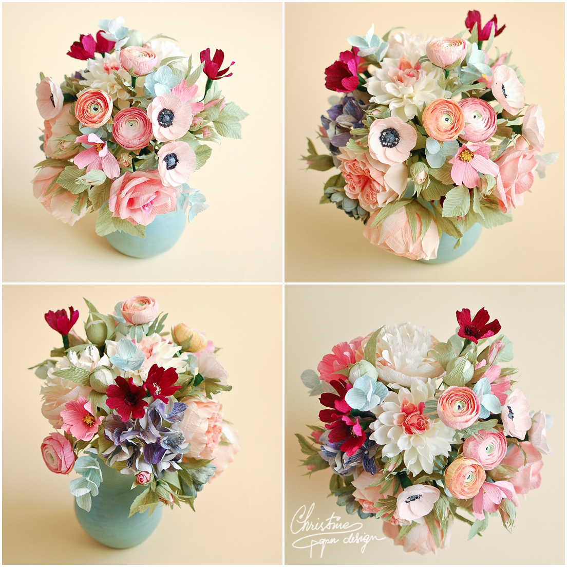 Diy Paper Flower Centerpieces Romeondinez