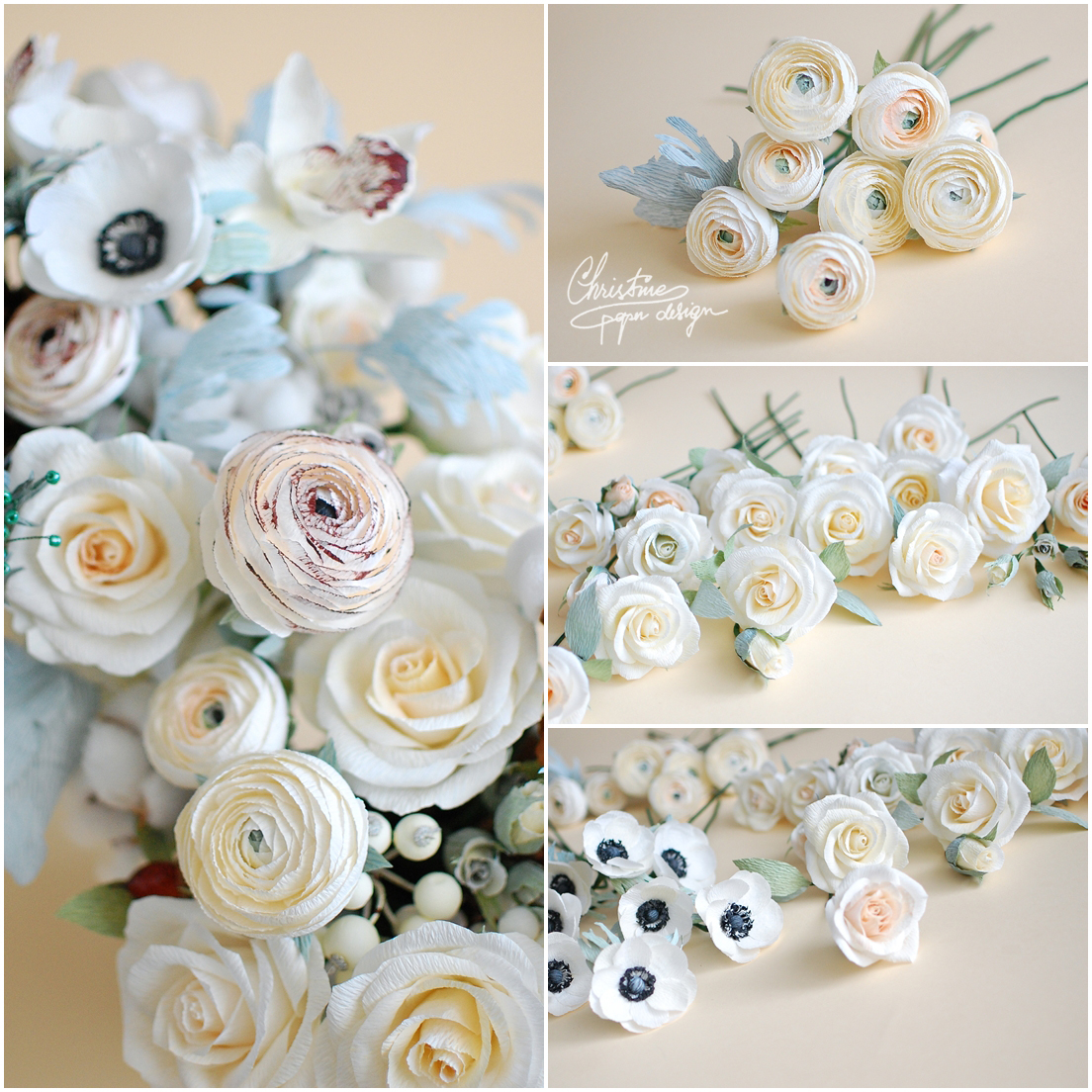 2Christine paper design - paper flowers