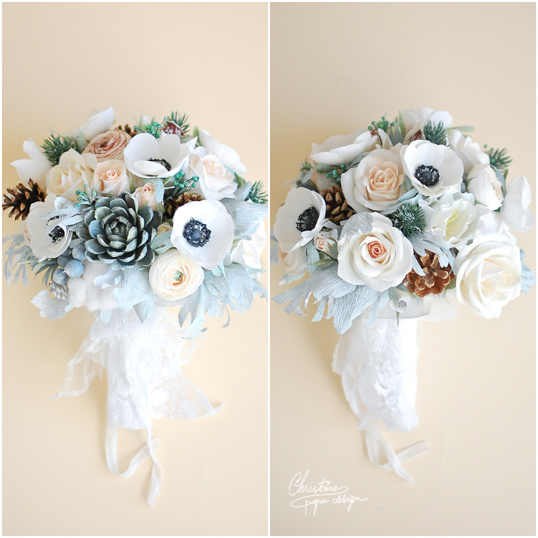 3Christine paper design - alternative wedding bouquet