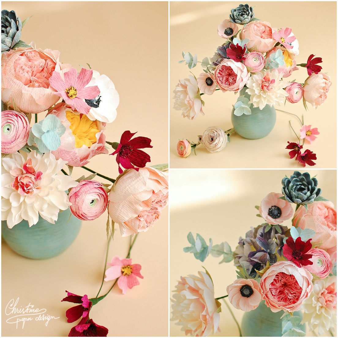 4'Christine paper design - paper roses2
