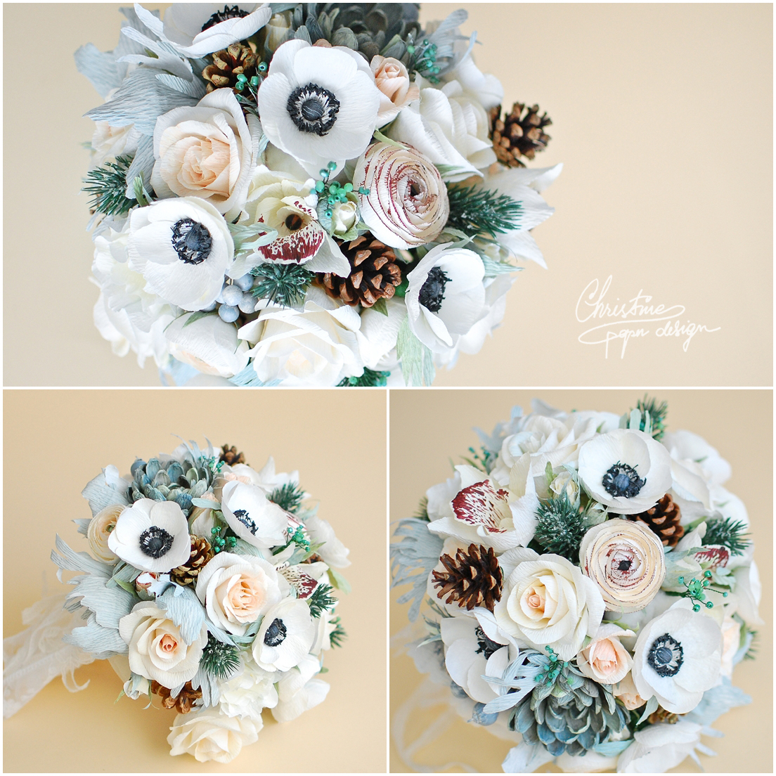 5Christine paper design - alternative wedding bouquet2