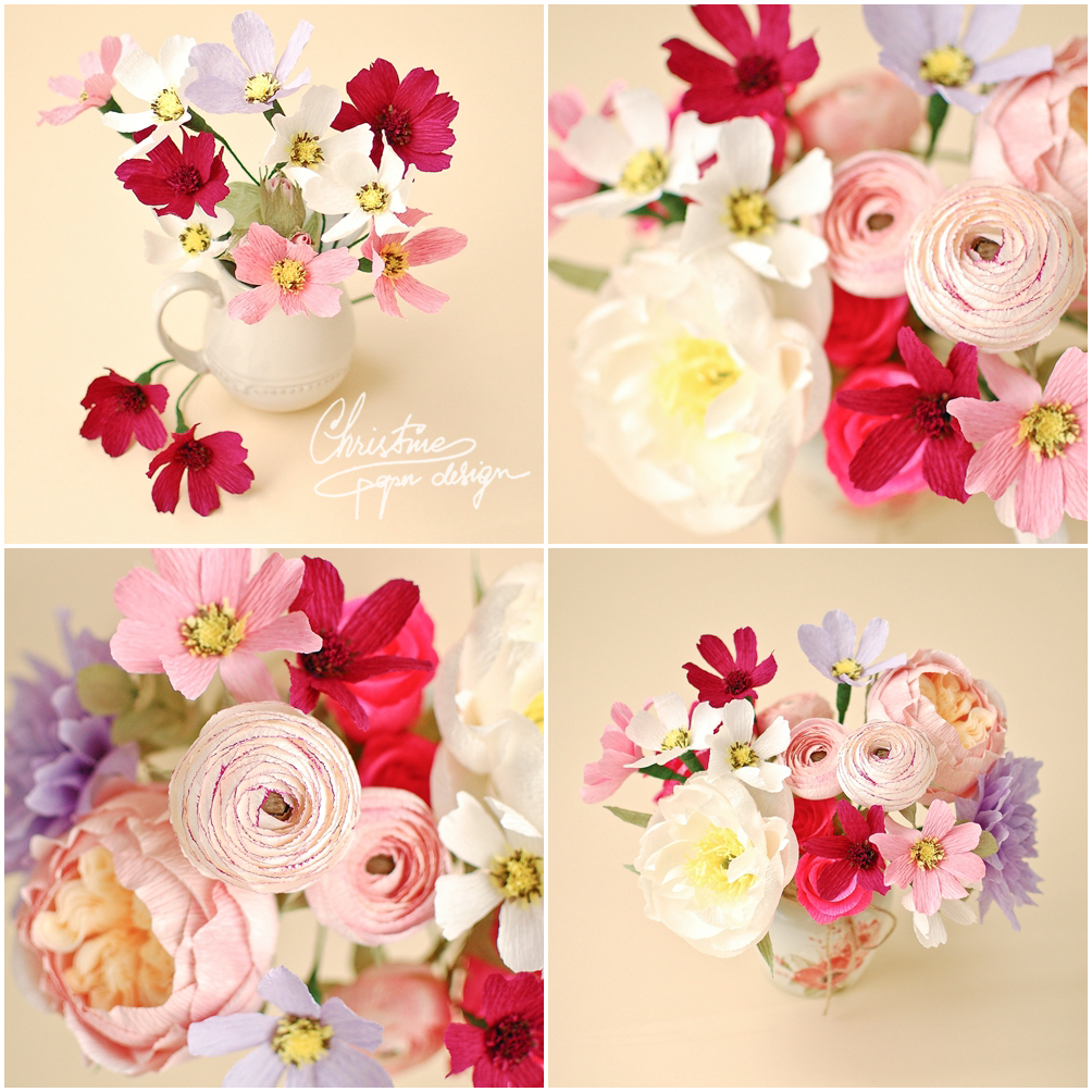 8Christine paper design - paper flowers, cosmos2