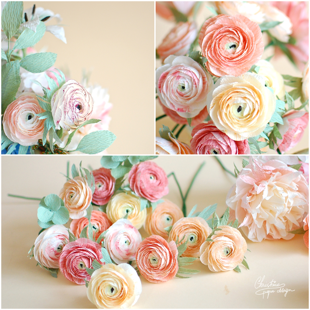My pastel world of paper flowers christine paper design christine paper design paper ranunculus mightylinksfo
