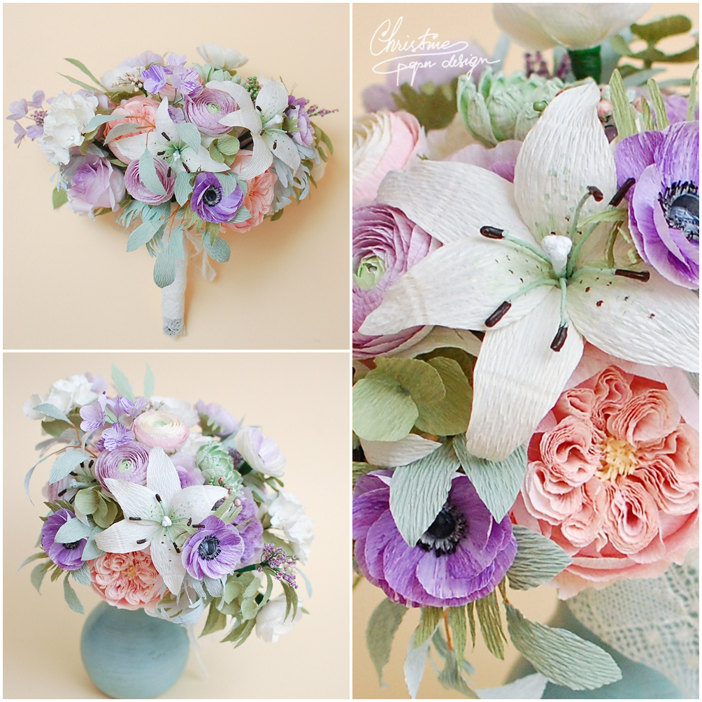 Christinepaperdesign - paper flowers bridal bouquet