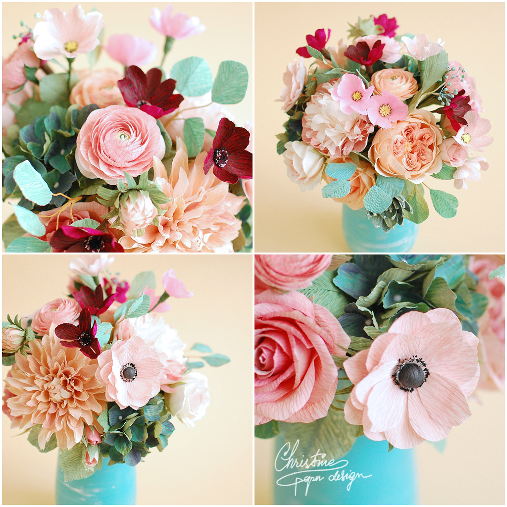 paper flowers centerpiece (3)