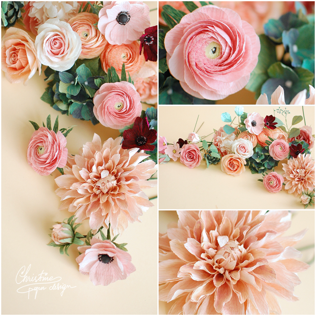 paper flowers centerpiece (4)