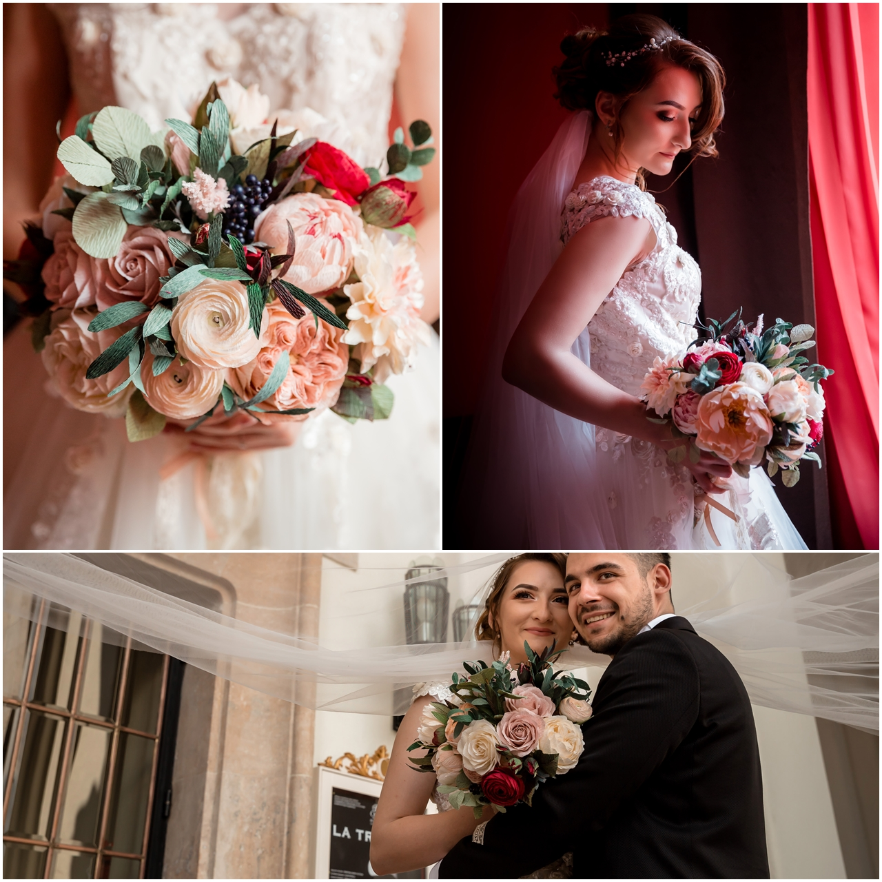 Mihai Gagiu Photo Credit - paper flowers bridal bouquet