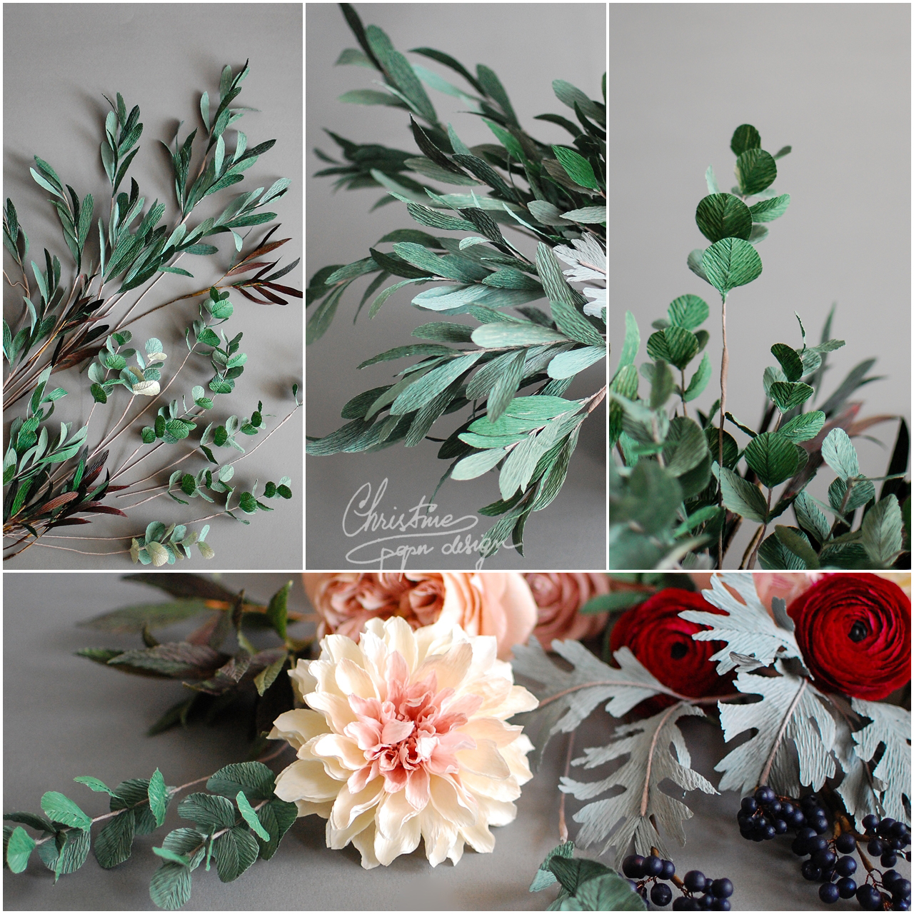 paper greenery - Christinepaperdesign