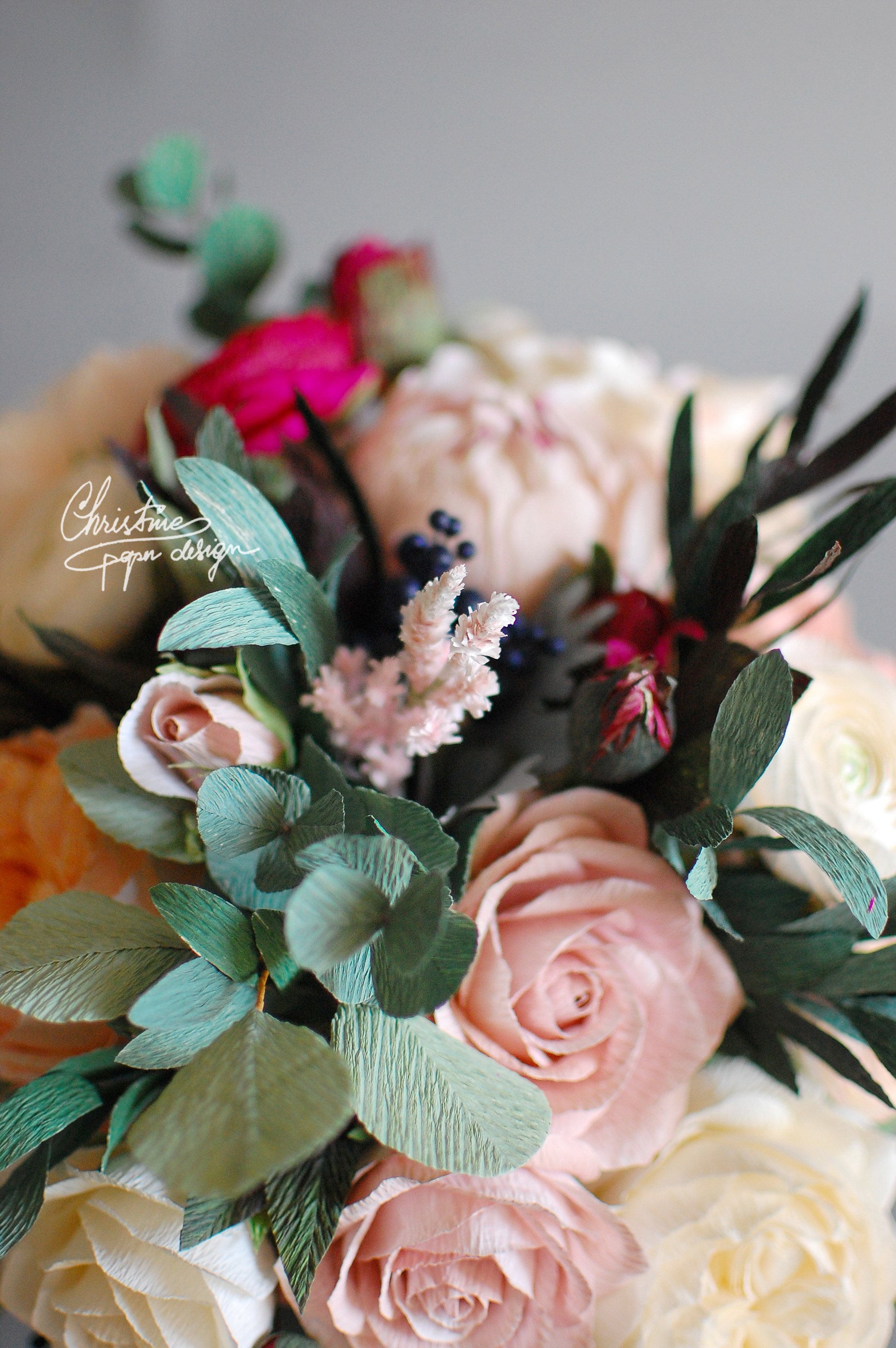 paperflowers bridal bouquet - Christinepaperdesign (1)