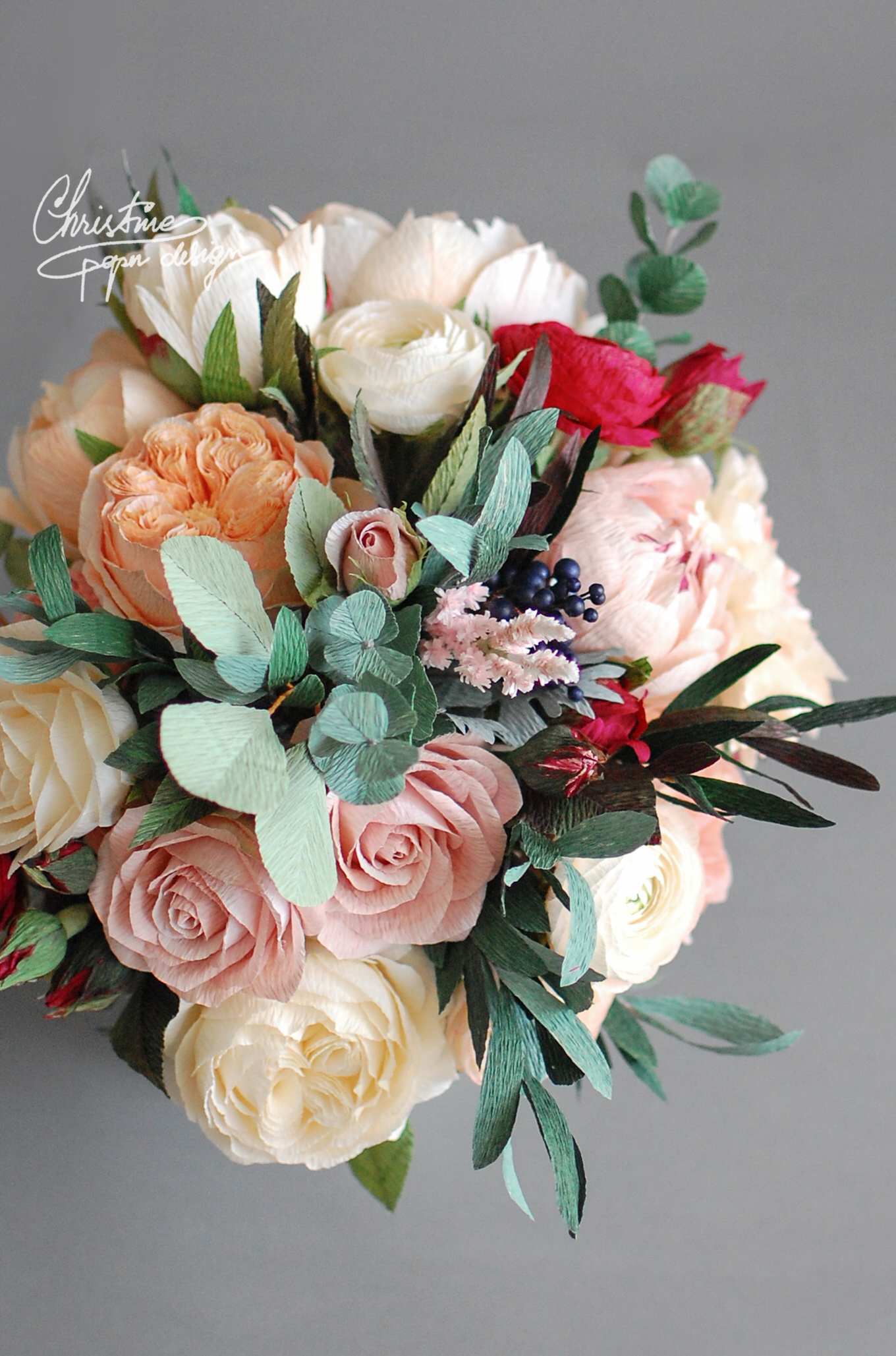 paperflowers bridal bouquet - Christinepaperdesign (2)