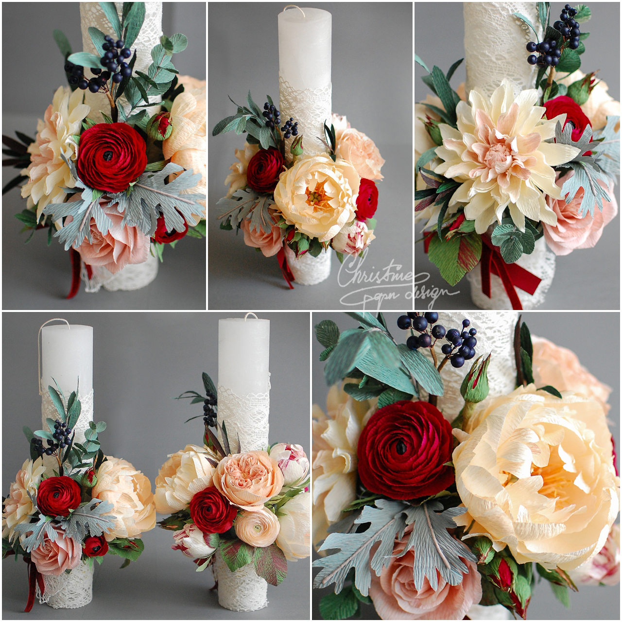 wedding candles - Christinepaperdesign.