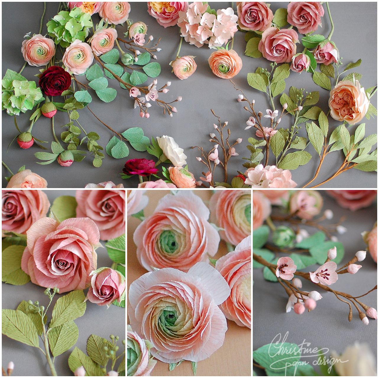 Designer Wedding Flowers: Paper Flowers For A Fairytale Wedding!