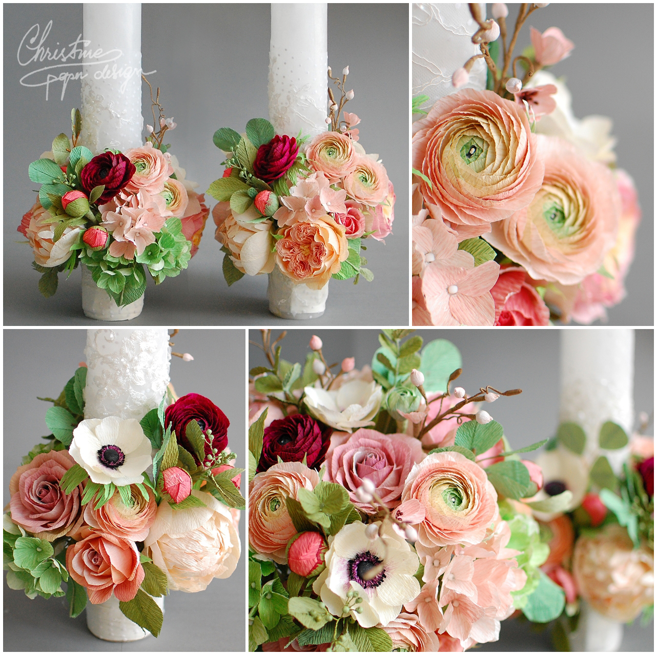 paper flower bridal bouquet - Christine paper design (2)