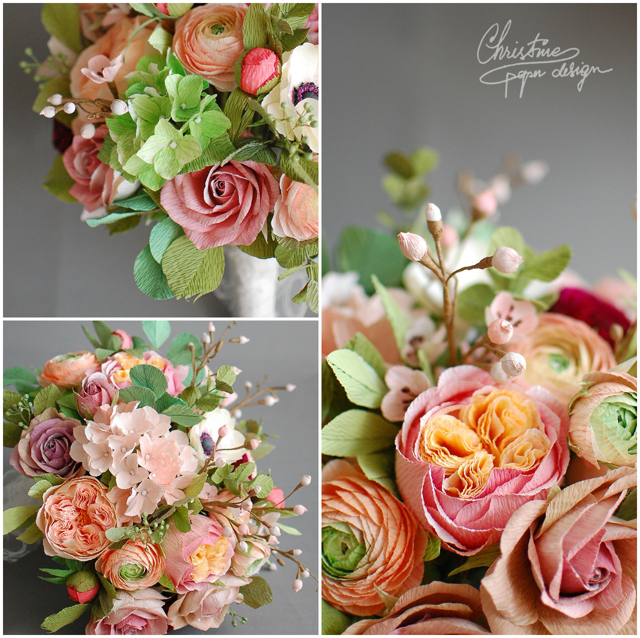 paper flower bridal bouquet - Christine paper design (4)