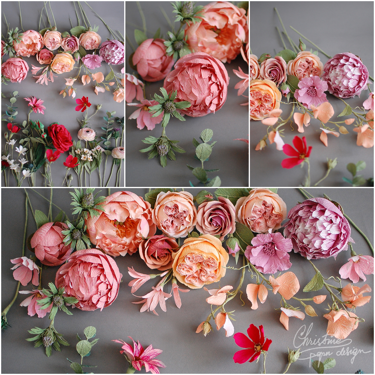 paper flowers - Christine paper design