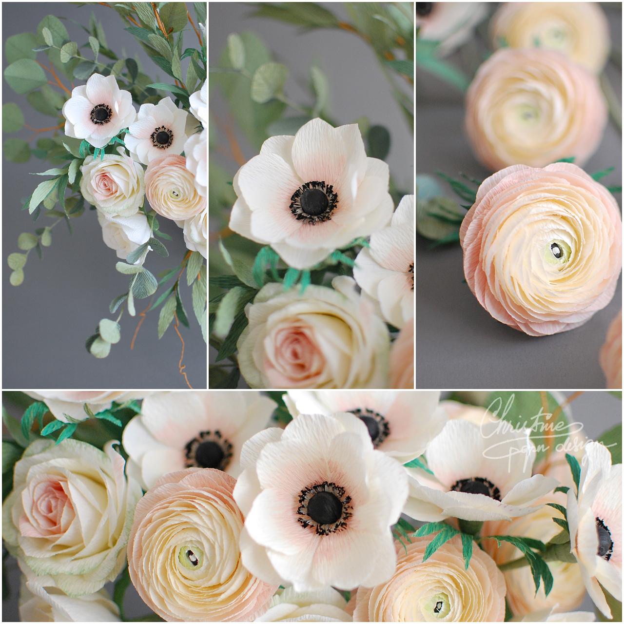 paper anemone - Christinepaperdesign