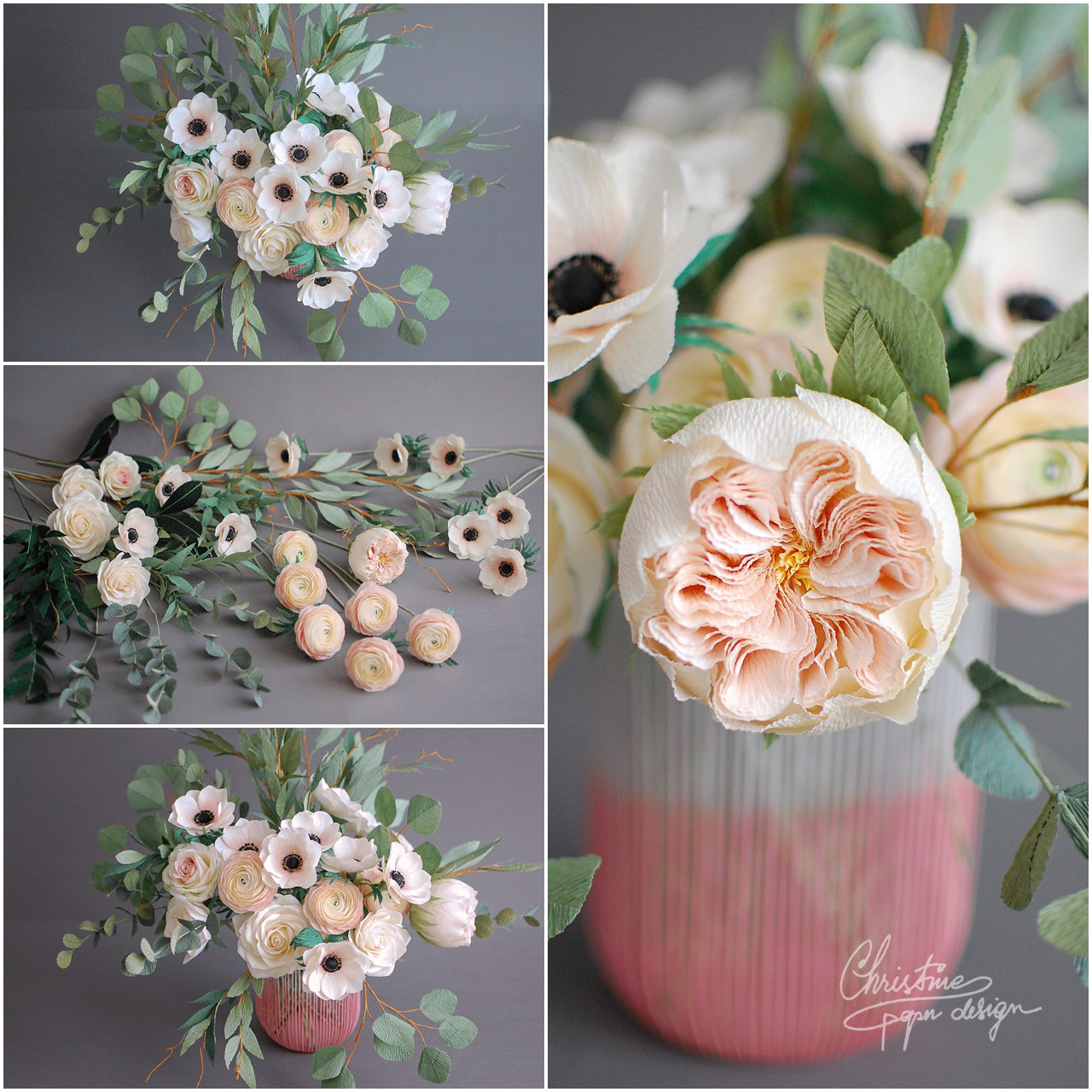 paper flowers centerpiece - Christinepaperdesign