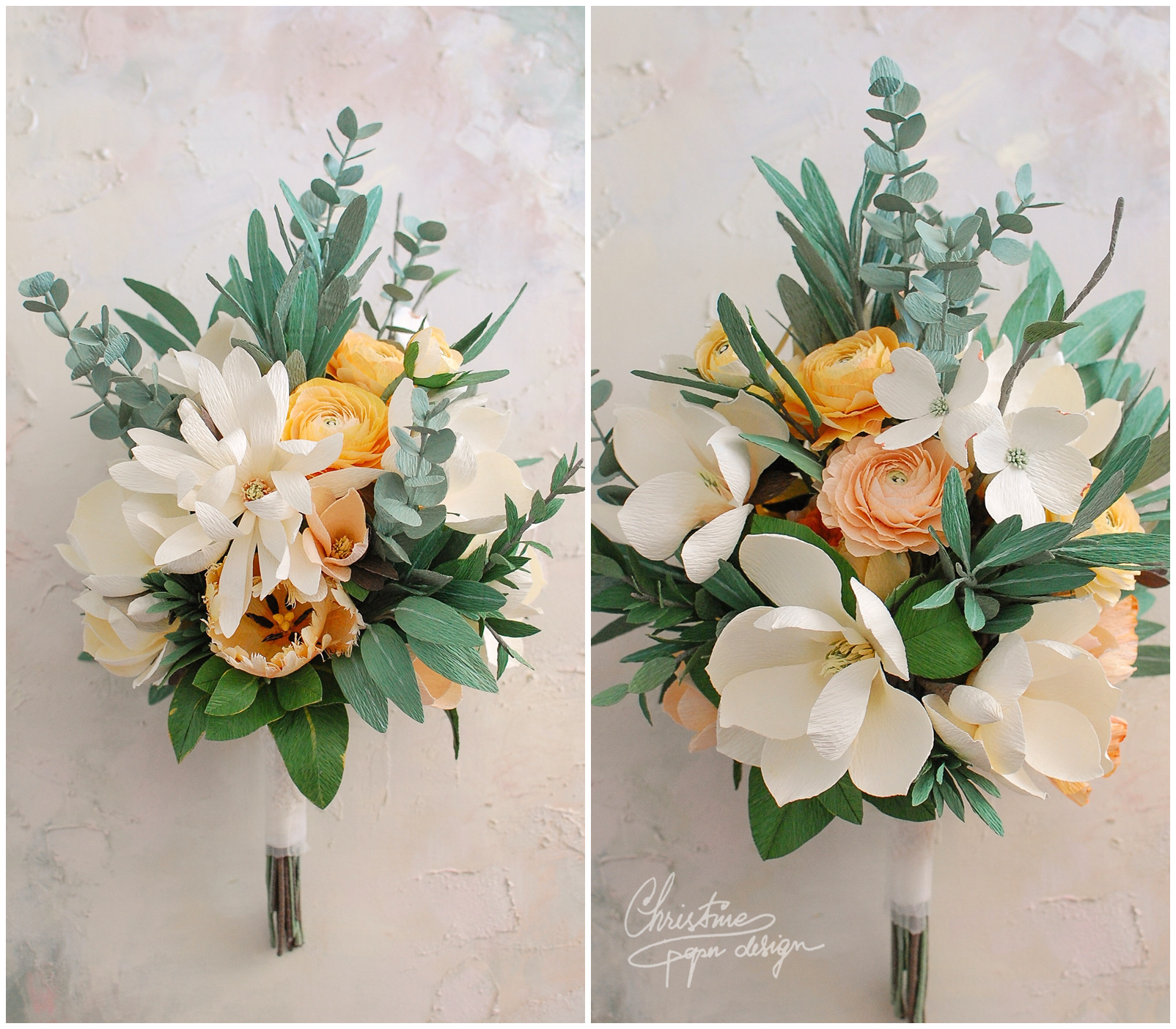 bridal bouquet - Christine paper design (1)