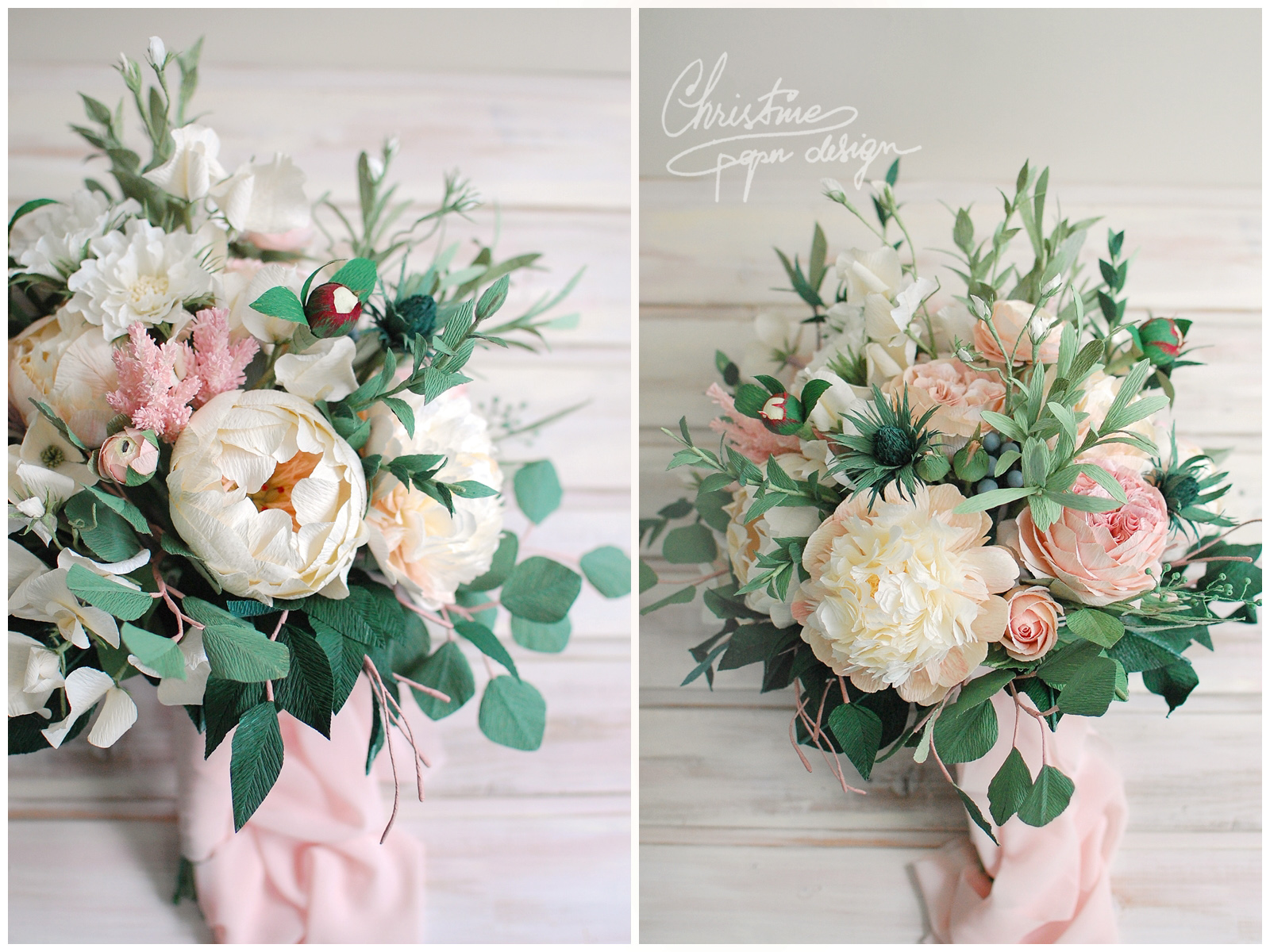 bridal bouquet - Christine paper design (4)