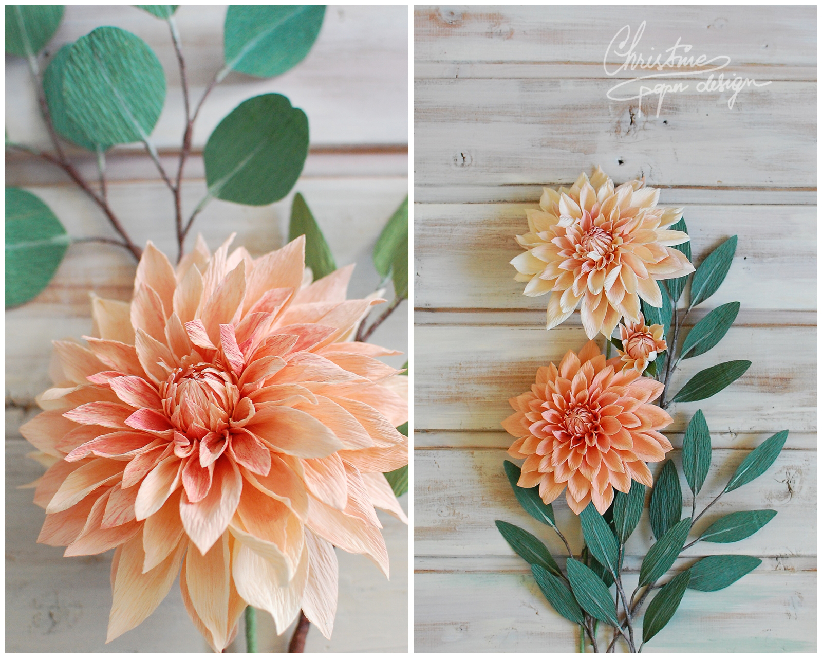 paper dahlias by Christinepaperdesign