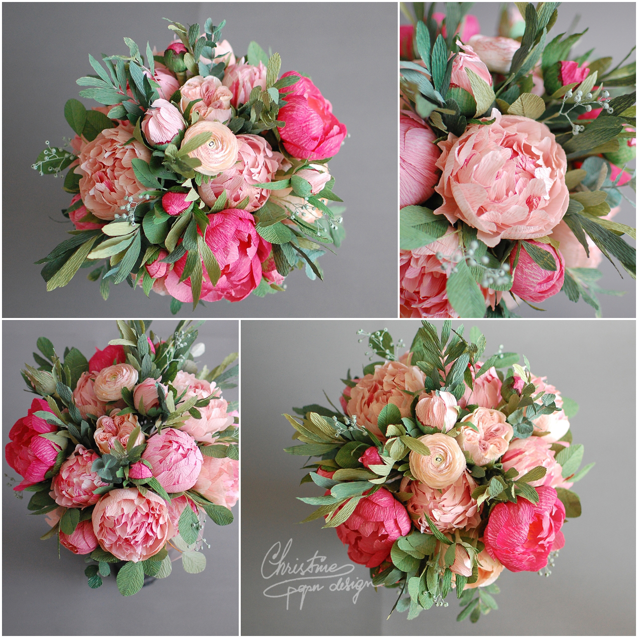 design wedding bouquet peonies mania and a colourful bridal bouquet christine 3483